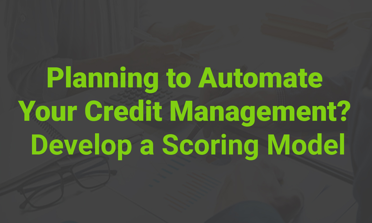 Credit Automation: Phase 1 – Developing a Scoring Model